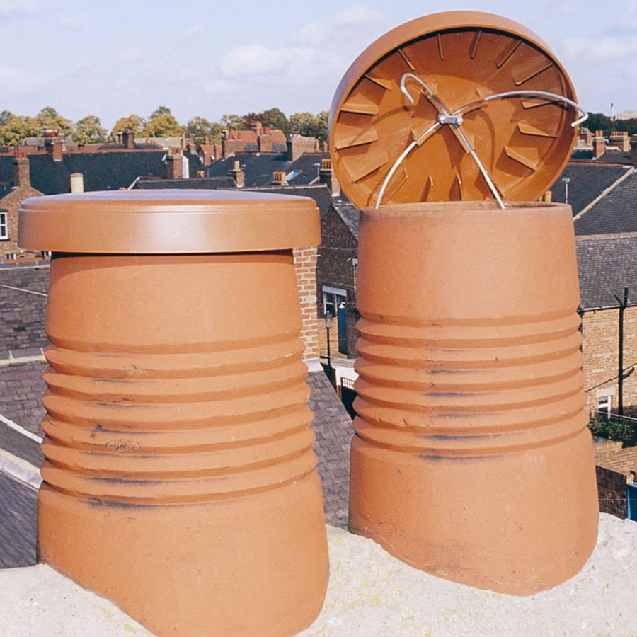 Disused Chimney Terracotta Caps