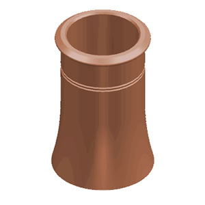 Chimney Pot Cannon Head 450mm Terracotta