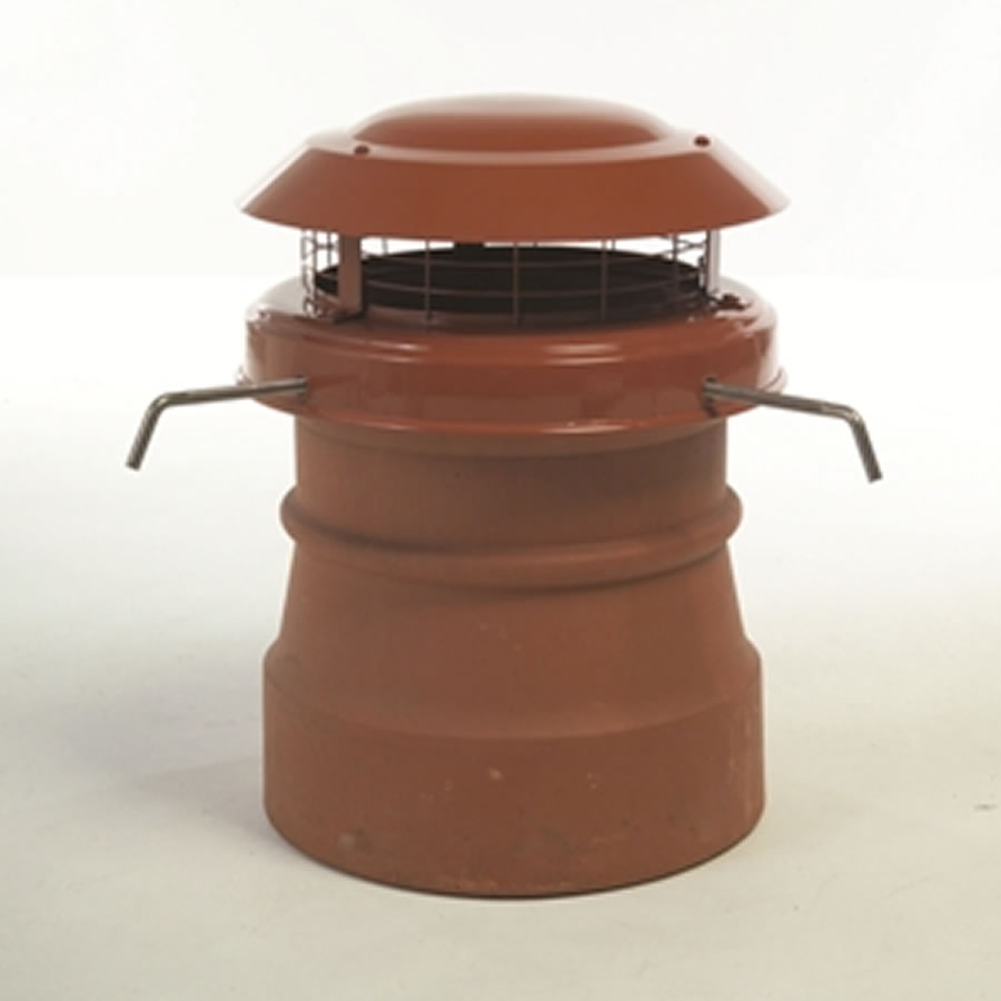 Terracotta Chimney Cowl With Bolt Fixing