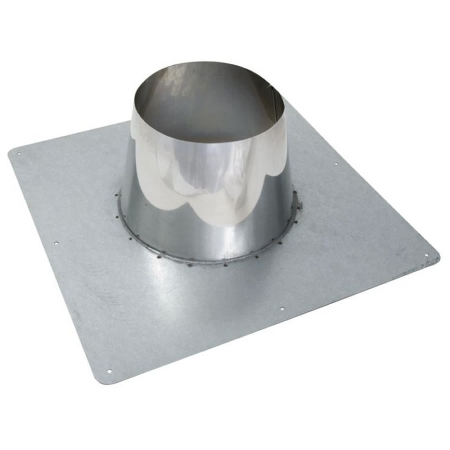 Roof Flashing 0 10 Degree For Twin Wall Flue Pipe