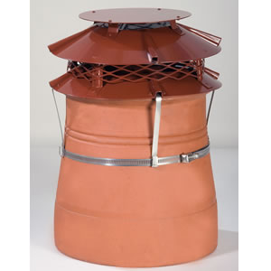 Brewer UFO Mark II Terracotta Cowl - Strap Fixing
