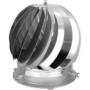 Revolving Chimney Cowl Rotorvent Turbolite Stainless Steel Multifuel