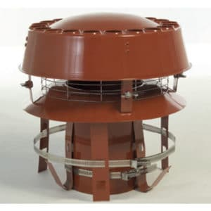 Anti Downdraught Chimney Liner Cowl - Terracotta