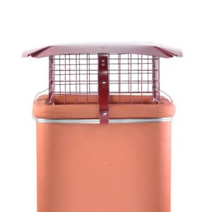 Square Bird Guard Terracotta Chimney Cowl