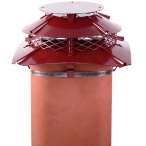 Square Terracotta Chimney Cowl from Chimney Cowl Products