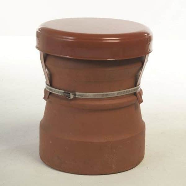 Chimney Capping Cap Cowl - Terracotta from Chimney Cowl Products