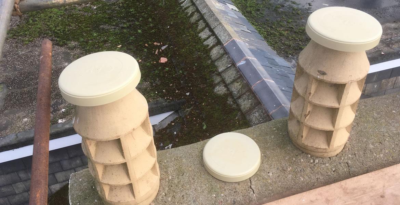 Disused Chimney Cap Buff Stone